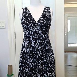 Ann Taylor Sleeveless Wrap Front Dress